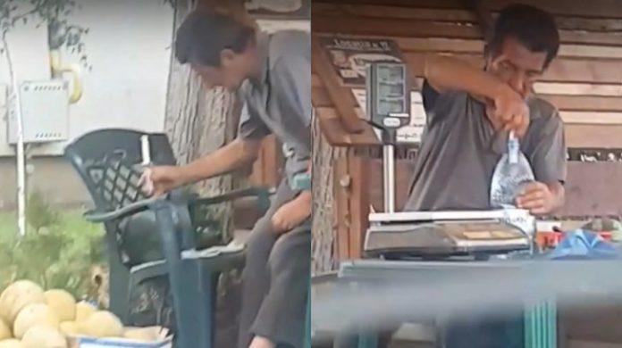 Pepeni injectați cu apă, la colț de stradă în Brăila
