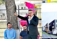 Florentin Pandele a ţinut discursul de începerea şcolii urcat pe un scaun