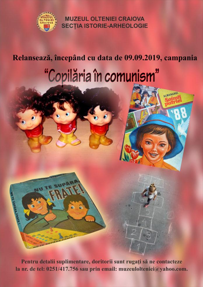 """Muzeul Olteniei Craiova relansează campania: """"Copilăria în comunism"""""""
