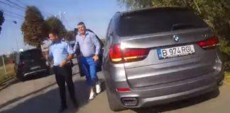 Un consilier recalcitrant amenință un polițist