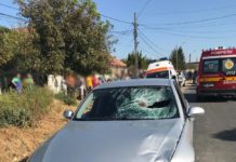 Femeia a murit pe loc în urma accidentului