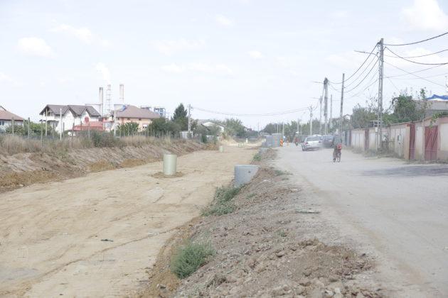 Lucrările de modernizare a străzii Carpenului