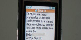 Aşa arată unul dintre mesajele de ameninţare trimise de inculpat.