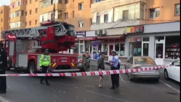 Explozie într-un apartament din Piteşti- foto: româniatv.net