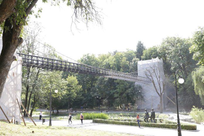 Podul suspendat din Parcul