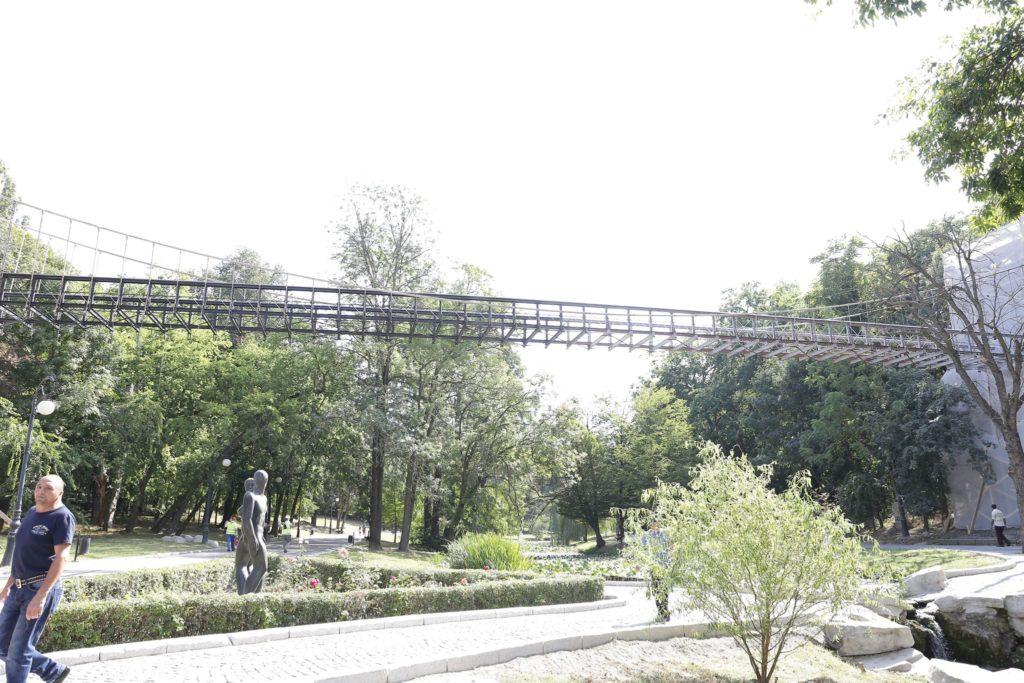 """Podul suspendat din Parcul """"Romanescu"""""""