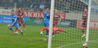 Andrei Cristea a marcat împotriva CFR-ului singurul său gol în tricoul Ştiinţei (Foto: Alex Vîrtosu)