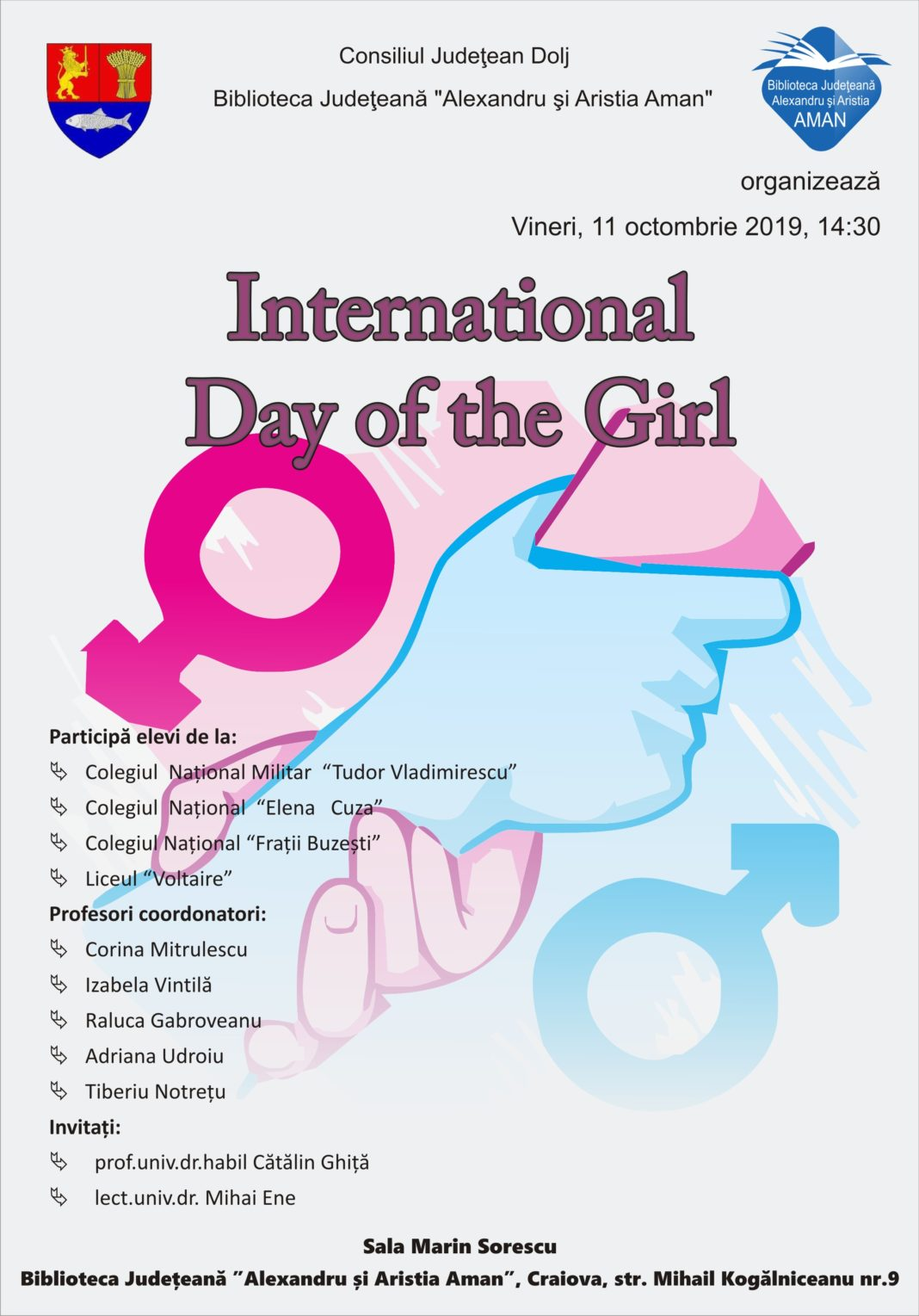 International Day of the Girl, la Biblioteca Judeţeană