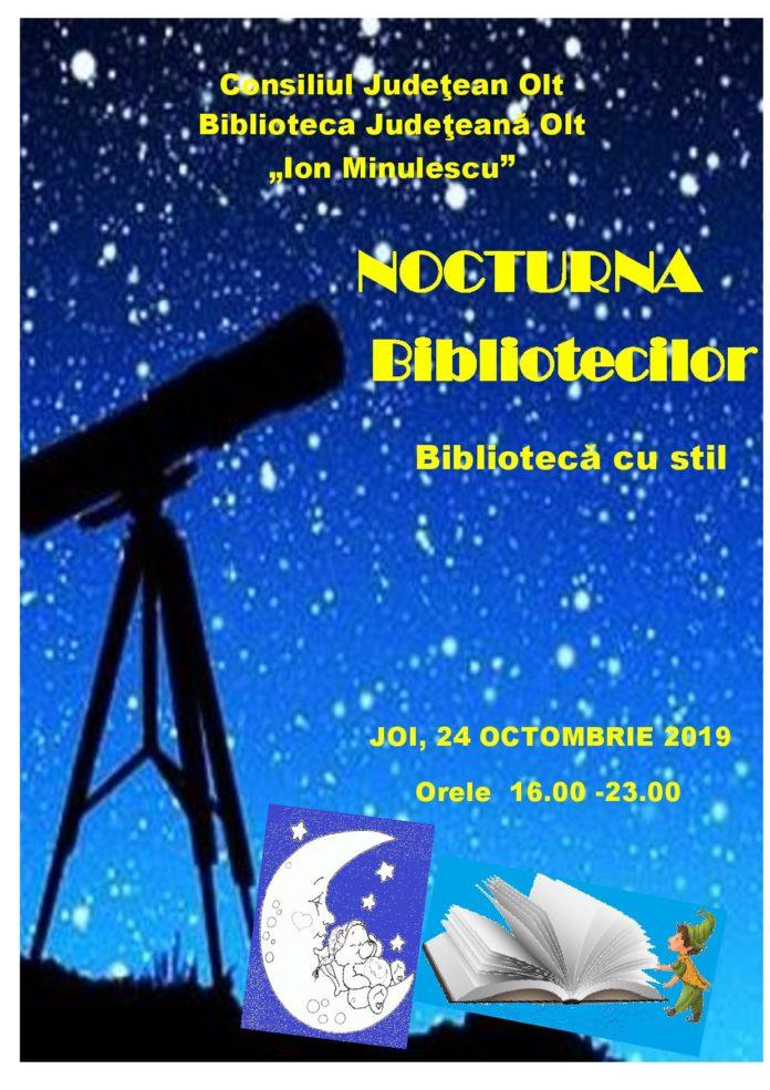 """""""Nocturna bibliotecilor"""" cu activități diverse la Slatina"""