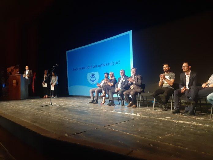 """Anul universitar de la Automatică şi Calculatoare a fost deschis pe scena Teatrului Naţional """"Marin Sorescu"""""""