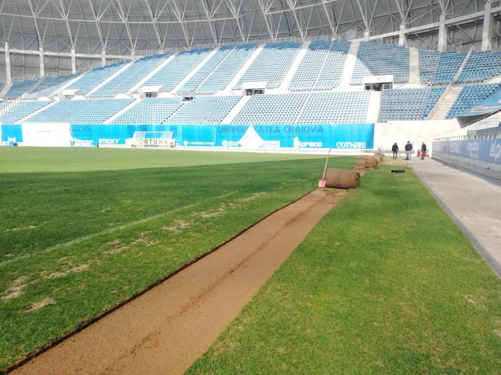 """A fost scoasă prima brazdă de la stadionul """"Ion Oblemenco"""""""