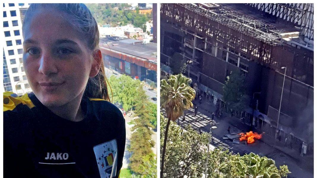 25 de copii români, din lotul de karate juniori, prinși în mijlocul violențelor din Santiago de Chile