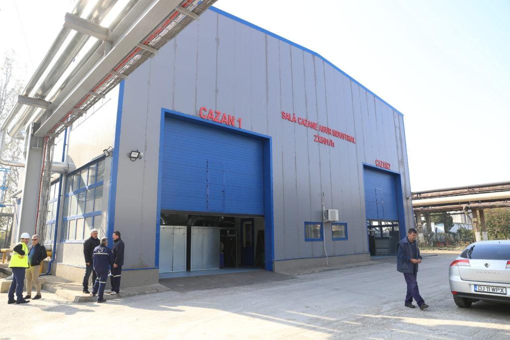 Cazane pe gaze la SECraiova II care asigură 30% din necesarul de energie termică