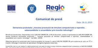 """Demararea proiectului """"Inovarea procesului de simulare computerizata a reperelor,subansamblelor si ansamblelor prin transfer tehnologic"""""""