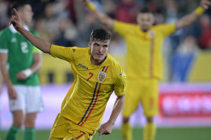 Valentin Mihăilă a marcat în meciul de debut la tineret chiar pe stadionul din Voluntari (Foto: prosport.ro)