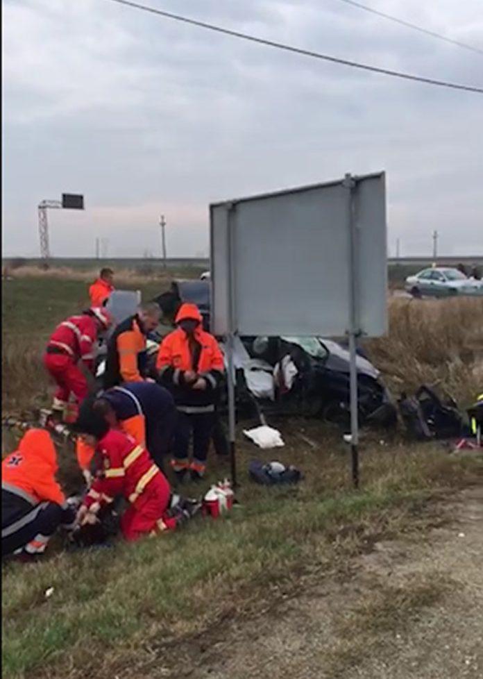 Doi craioveni, soţ şi soţie, au murit în urma unui accident violent produs pe DN 65