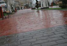 Nu sunt bani pentru înlocuirea cu granit a betonului amprentat din zona centrală
