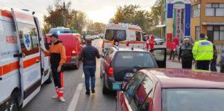 Accident rutier cu trei autoturisme, în Olt