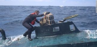 Submarin cu droguri, interceptat în Spania