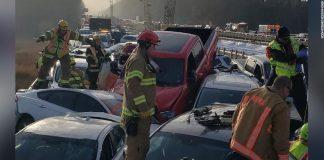 Zeci de răniţi şi de maşini avariate în carambolul de pe autostrada din Virginia