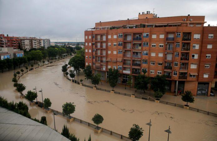 Inundații puternice în Murcia, Spania