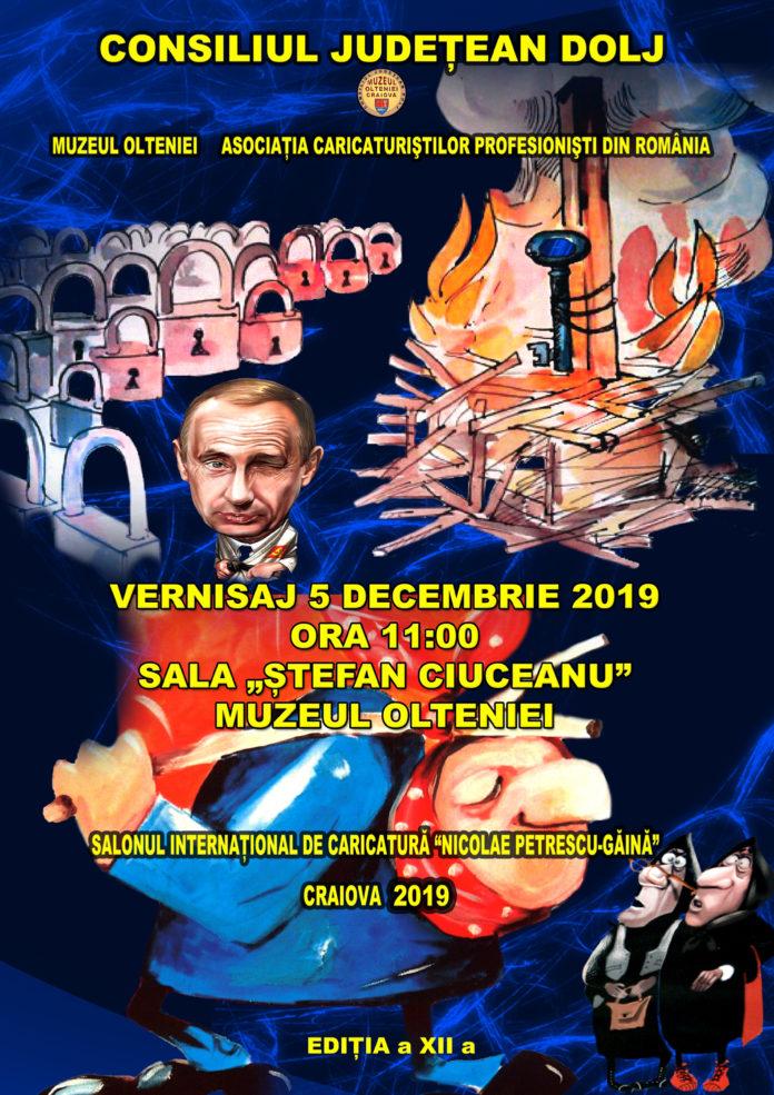 Salonul Internațional de Caricatură Nicolae Petrescu – Găină, la Muzeul Olteniei