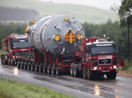 Transport agabaritic pe ruta Nădlac PTFII -Podari