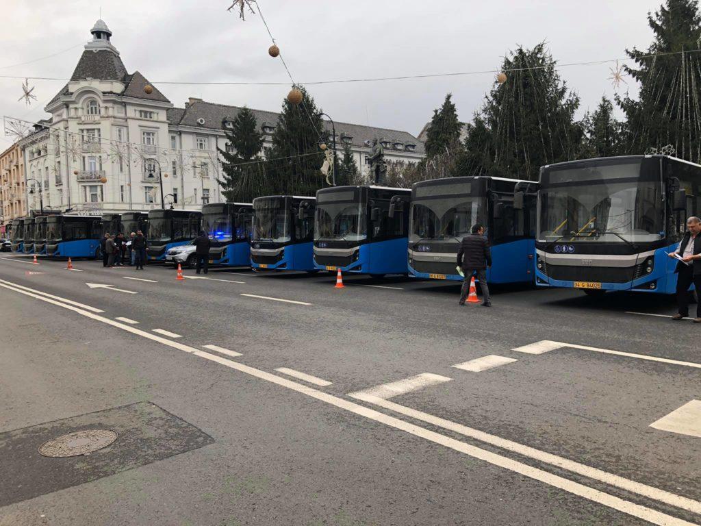 Craiova are 25 de autobuze noi. Duminică a sosit și lotul doi de 15 autobuze Diesel produse de firma turcă BMC