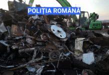11.000 kilograme deșeuri fier vechi confiscate de polițiști