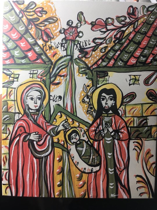 Lumini de decembrie, expoziție de icoane pe sticlă