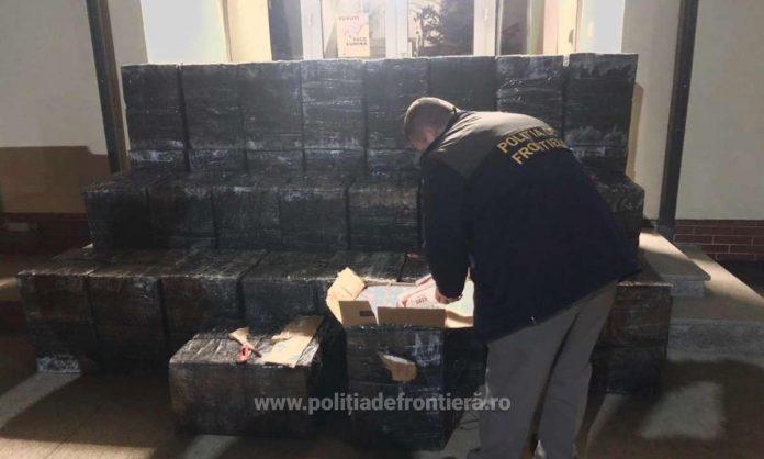 Peste 25.000 de pachete cu țigări de contrabandă, confiscate la frontiera de nord