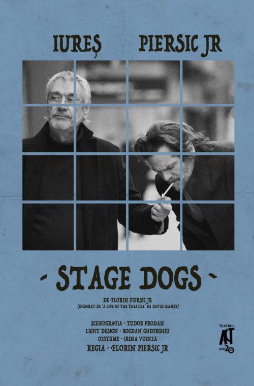 """""""Stage Dogs"""" îi readuce pe scena Teatrului Colibri pe actorii Marcel Iureș și Florin Piersic jr."""
