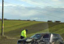 Maşină răsturnată în urma unui accident la Ghercestii: (facebook Paul Iulian Gheorghe)