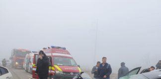 Accidentul s-a soldat cu doi morţi şi şapte persoane rănite