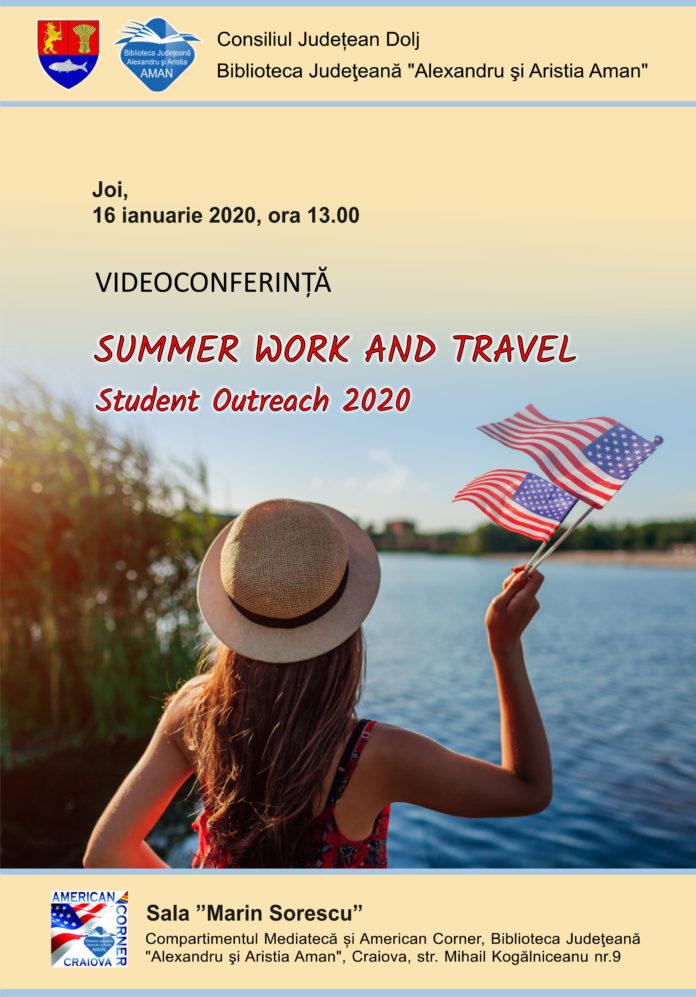 """Videoconferința """"Summer Work and Travel - Student Outreach 2020"""", la Biblioteca Judeţeană"""