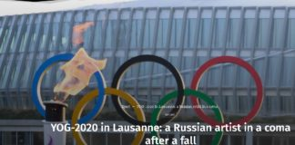 Patinatoarea a căzut de la înălţime în timpu repetiţiilor pentru deschiderea Jocurilor Olimpice de Tineret