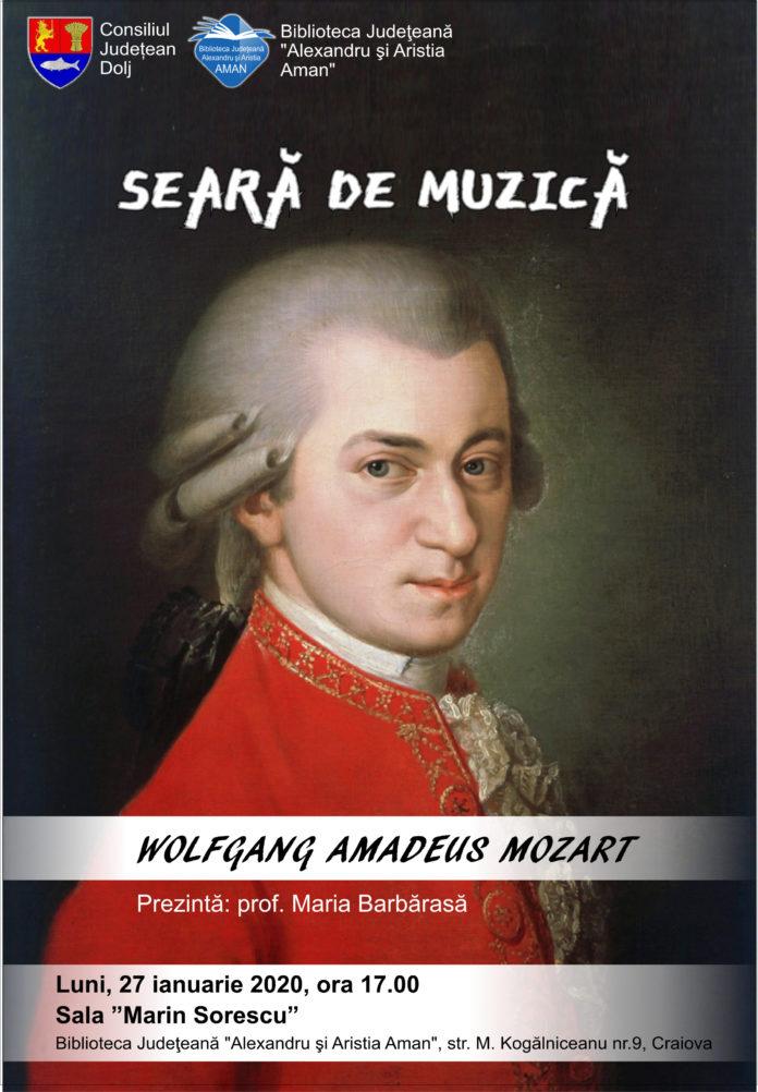 Seară de muzică Wolfgang Amadeus Mozart la