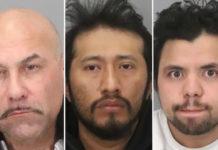 De la stânga la dreapta: Albert Thomas Vasquez, Antonio Quirino Salvador, Hediberto Gonzalez Avarenga