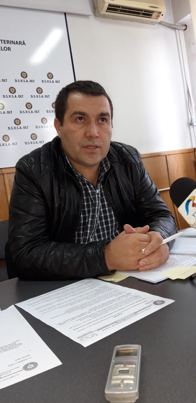 Veronel Bolborea, şeful Direcţiei Sanitare Veterinare şi pentru Siguranţa Alimentelor (Foto: Gazeta Oltului)