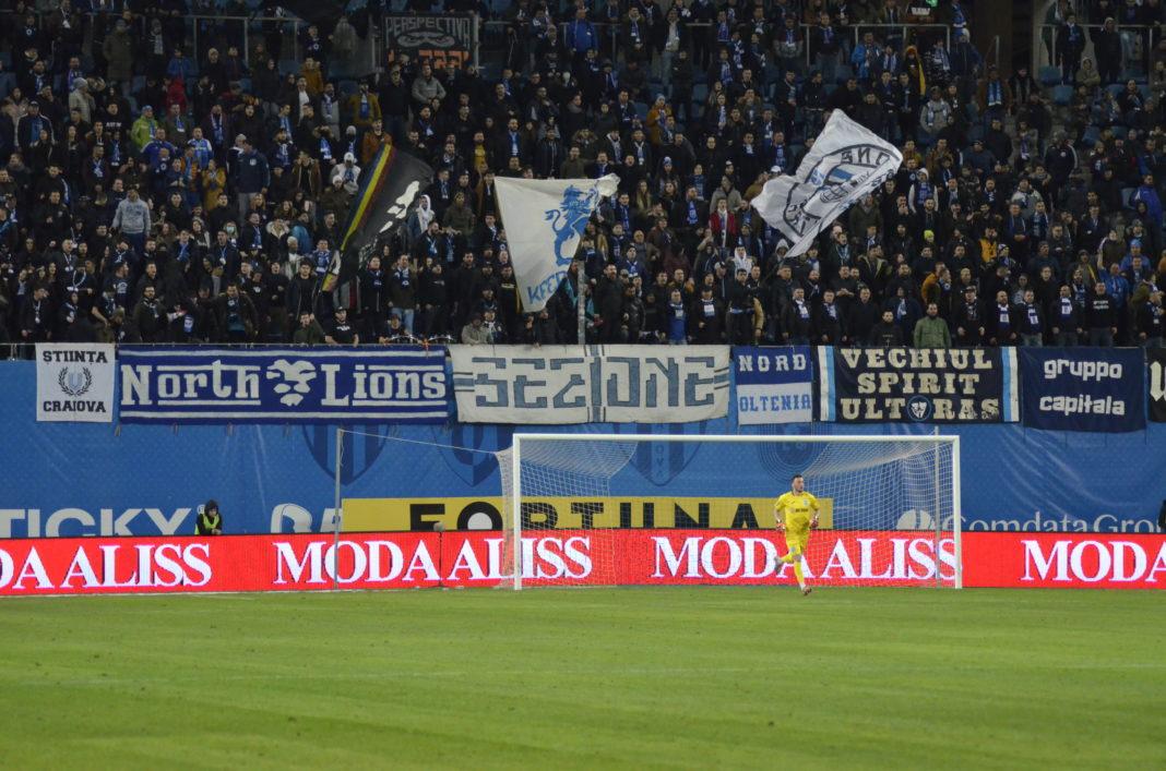 Suporterii de la Peluza Nord s-au depărtat de Mirko Pigliacelli în această iarnă (Foto: Alex Vîrtosu)