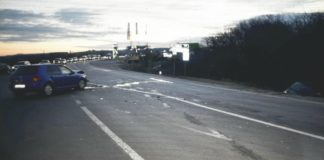 Accident rutier pe DN 65