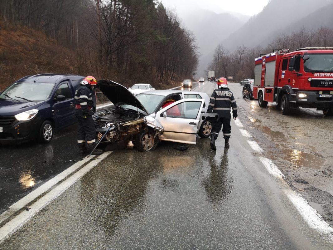 Vâlcea: Accident rutier pe Valea Oltului, în Brezoi