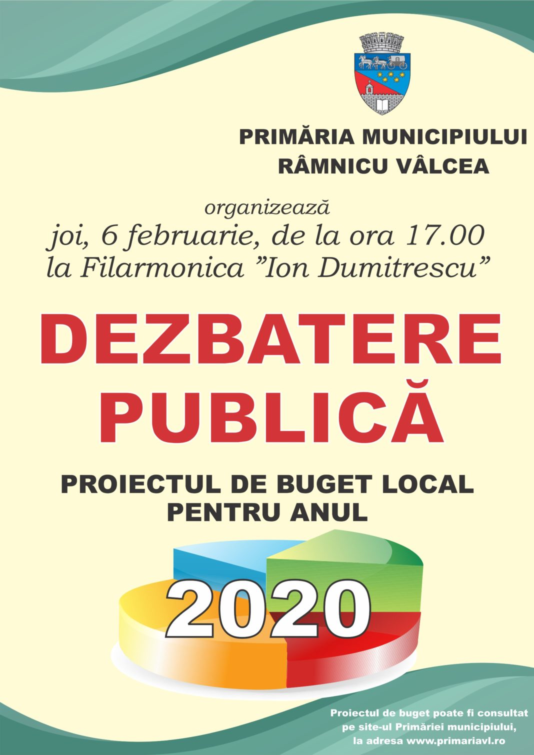 Dezbaterea publică a proiectului de buget local pe anul 2020