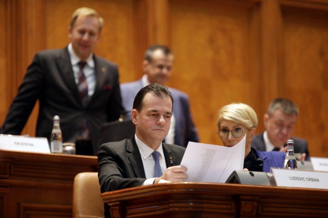 """Guvernul Orban 2 a fost învestit, sâmbătă, de Parlament cu 286 de voturi """"pentru"""", 23 de voturi """"împotrivă"""" și o abținere"""