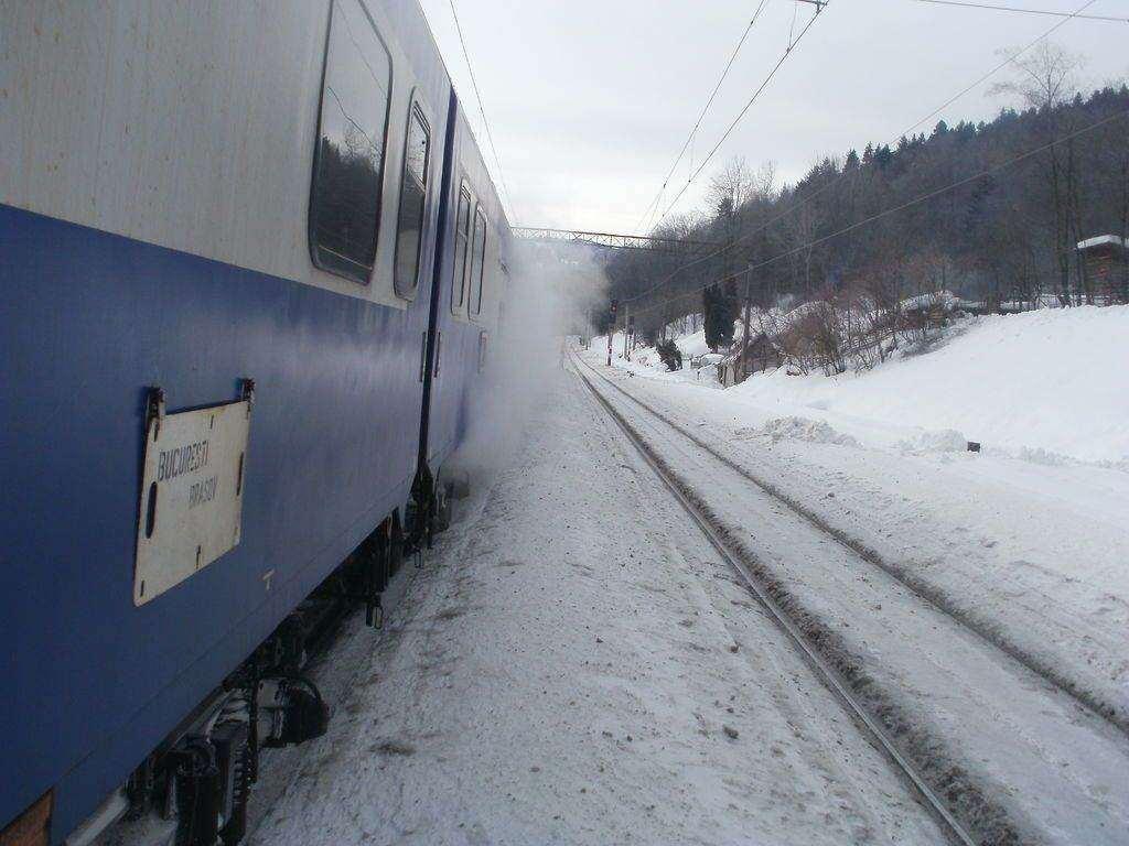 Trenul Braşov-Budapesta a deraiat