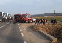 A fost activat Planul Roşu de intervenţie după coliziunea dintre cele trei autoturisme