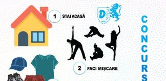 """Direcţia Judeţeană pentru Sport şi Tineret Dolj lansează proiect """"Stai acasă… Faci mişcare şi… Câştigi"""", în perioada 1 aprilie – 30 aprilie 2020"""