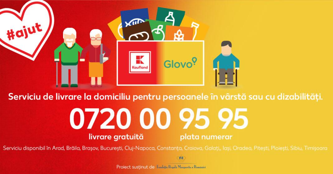 Kaufland și Glovo – asigură livrare cu plata la domiciliu pentru persoanele în vârstă sau cu dizabilități