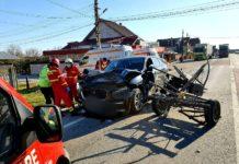 Trei persoane au fost rănite în urma unui accident petrecut în urmă cu puţin timp pe DN 65, în comuna Găneasa, Olt