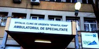 72 de cadre medicale ale Spitalului Clinic de Urgență Sf. Ioan, în izolare